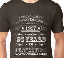 Vintage Age 50 Years 1967 Perfect 50th Birthday T-Shirt Unisex T-Shirt