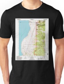 USGS TOPO Map California CA Willow Ranch 102564 1993 24000 geo Unisex T-Shirt