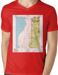 USGS TOPO Map California CA Willow Ranch 102564 1993 24000 geo Mens V-Neck T-Shirt