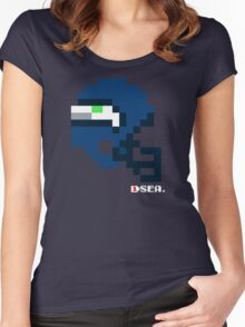 SEA Current Helmet - Tecmo Bowl Shirt Women's Fitted Scoop T-Shirt