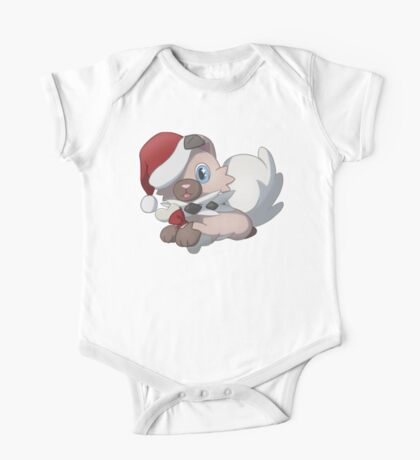 Christmas Rock Puppy One Piece - Short Sleeve
