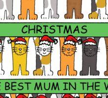 Happy Christmas Best Mum in the world. Sticker