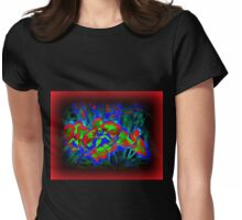NEON ORCHIDS Womens Fitted T-Shirt