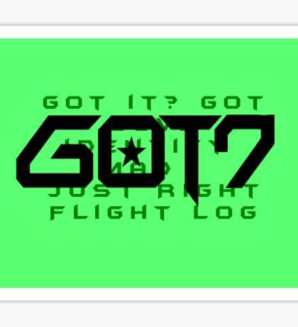 GOT7 Ahgase Green Discography Sticker