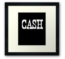 Vintage Cash Country Music T-shirt  Framed Print