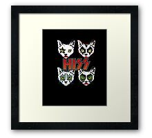 Hiss Rock Band Funny Cat Kitty Kitten Music T Shirt  Framed Print