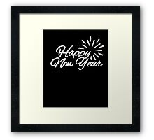Happy New Year T-Shirt 2 Framed Print