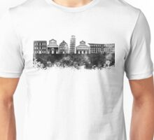 Pisa skyline in black watercolor Unisex T-Shirt