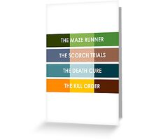 The Maze Runner Series in Basic Colors Greeting Card