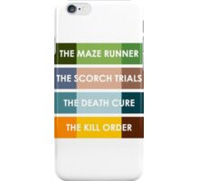 The Maze Runner Series in Basic Colors iPhone Case/Skin