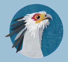 Secretary bird portrait in felt Kids Clothes