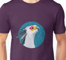 Secretary bird portrait in felt Unisex T-Shirt