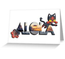 Aloha from Alola - Litten Greeting Card