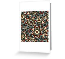 Floral mandala abstract pattern design by Somberlain Greeting Card