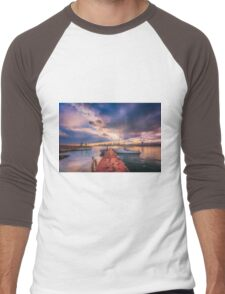 The jetty in the evening Men's Baseball ¾ T-Shirt