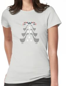 6 Geese a Laying Womens Fitted T-Shirt