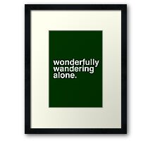 Wandering Alone. Framed Print