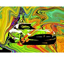 PSYCHEDELIC WHEELS BY ART AND SOUL MAMMA Photographic Print