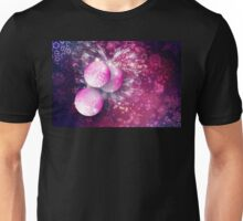 Purple Ornamental Xmas Balls Unisex T-Shirt