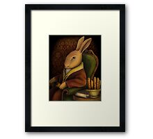 Sir Rabbit Worthington Framed Print