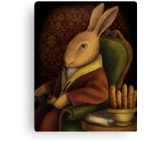 Sir Rabbit Worthington Canvas Print