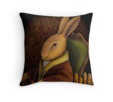 Sir Rabbit Worthington Throw Pillow