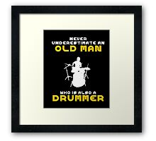 Musician Gifts Drum Drummer Shirt T-Shirt Men Husband Gift  Framed Print