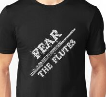 Flute Music Gift Shirt Fear The Flutes Marching Band Tee  Unisex T-Shirt