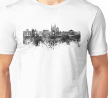 Angers skyline in black watercolor Unisex T-Shirt