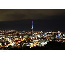Sky Tower at night, Auckland, New Zealand Photographic Print