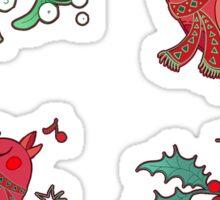 birds and berry Sticker