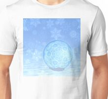 Snowy blue ball Unisex T-Shirt