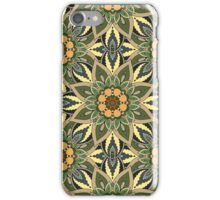 Floral mandala abstract pattern design by Somberlain iPhone Case/Skin