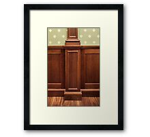 classic oaken wall paneling in the interior Framed Print