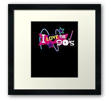 I Love the 90s Party Music Shirt  Framed Print