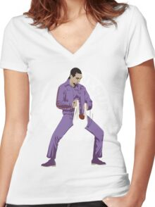 The Jesus - The Big Lebowski Women's Fitted V-Neck T-Shirt