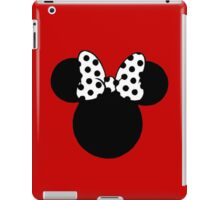 Mouse Ears with Black & White Spotty Bow iPad Case/Skin