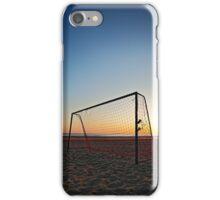 Beach Football Net at Sunset iPhone Case/Skin