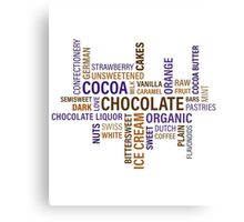 Sweet Chocolate Candy Word Cloud Canvas Print