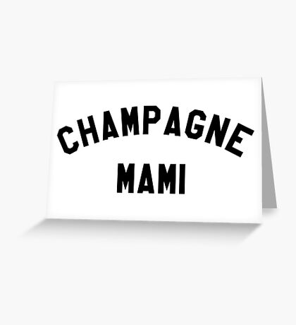 Campagne Mami - Black Greeting Card