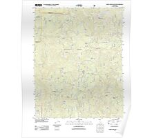 USGS TOPO Map California CA White Chief Mountain 20120402 TM geo Poster