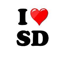 I Love SD Photographic Print