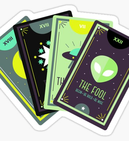 Alien Tarot Sticker