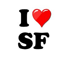 I Love SF Photographic Print