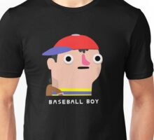 Baseball boy (white text) Unisex T-Shirt