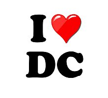 I Love DC Photographic Print