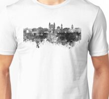 Rennes skyline in black watercolor Unisex T-Shirt
