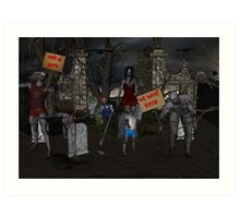Zombie Protest Art Print