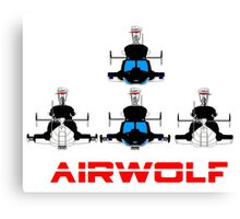 More Airwolf Helicopter Canvas Print