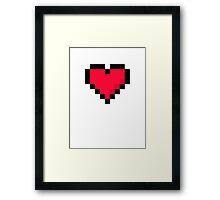 Pixal Heart Framed Print